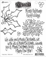 Dylusions - Rubber Stamps - Holly Days & One, Two, Tree